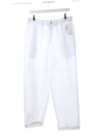 Paris Linen Leinenhose weiß Boho-Look
