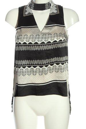 Parisian Sleeveless Blouse black-natural white graphic pattern business style
