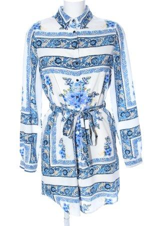 Parisian Blusenkleid Allover-Druck Elegant