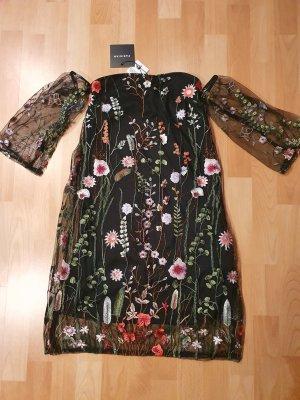 Parisian Off-The-Shoulder Dress multicolored
