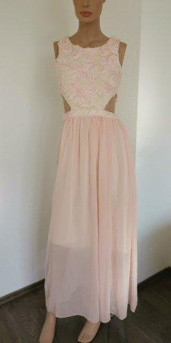 Parisian Collection Kleid lang Chiffonblumen Cut-Out floral Abendkleid rosa Gr. 10 (38)
