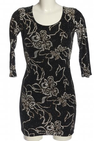 Parisian Mini Dress black allover print party style