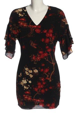 Parisian Shortsleeve Dress black-red allover print casual look