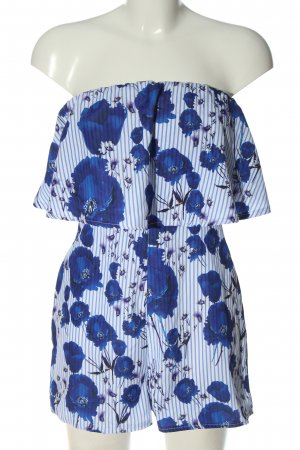 Parisian Kurzer Jumpsuit blue-white flower pattern casual look