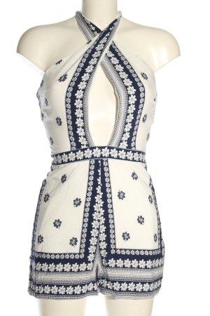 Parisian Kurzer Jumpsuit white-blue casual look