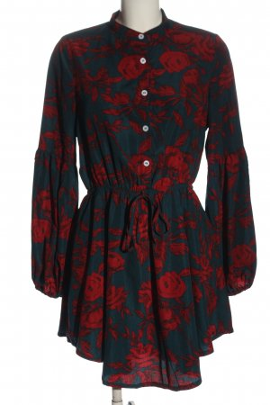 Parisian Longsleeve Dress green-red allover print casual look