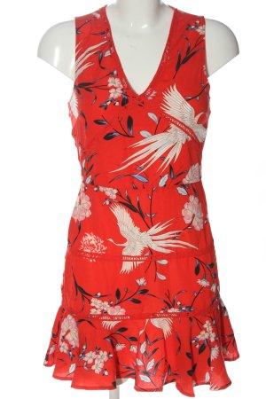 Parisian Mini Dress red allover print casual look