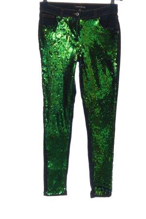 Parisian Stretch Jeans blue-green glittery