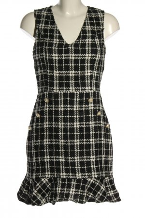 Parisian Knitted Dress black-white allover print casual look