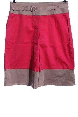Park Bravo Gonna a vita alta rosso-grigio chiaro stile casual