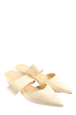 Park Lane Sandalo con tacco bianco sporco stile classico