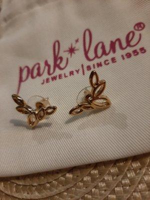 Park Lane Ohrringe, Gold, Feder, Blätter, Statement