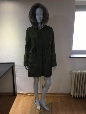 Blonde No. 8 Płaszcz zimowy khaki Bawełna