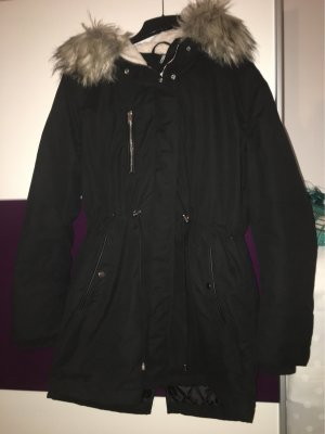 H&M Parka noir-orange doré