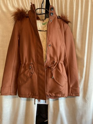 United Colors of Benetton Hooded Coat brown