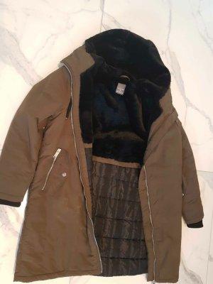 Primark Manteau en duvet vert foncé-noir