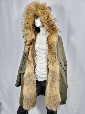 Miss & Furs Pelt Jacket green