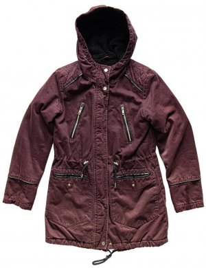 Parka in weinrote
