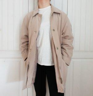 Parka Jacke Mantel True Vintage Oversize braun beige creme 38 S M Hemd Bluse Pulli Pullover