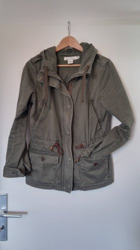 Parka/Jacke mit Kapuze in khaki