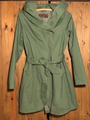 Mint&berry Manteau à capuche vert menthe-vert clair coton