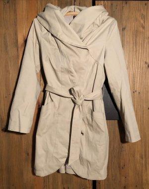 Mint&berry Manteau à capuche crème-beige clair coton
