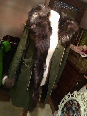 Pelt Coat black-khaki