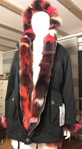 Axel Delikat Berlin Fur Jacket black-magenta