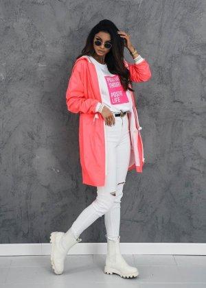 Parka rosa neón