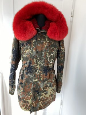 Amor&Grace Parka multicolored pelt