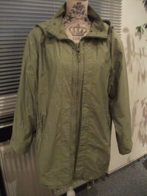 Parka / Outdoor Jacke mit Kapuze, Gr. 38/40, grün-khaki-oliv