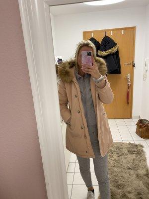 Attentif Pelt Coat pink