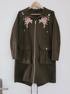 Parka / Trenchcoat mit Patches von New Look Petite Gr. 36