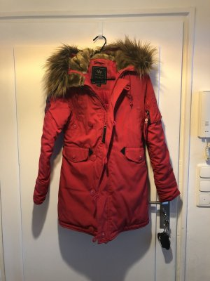 Alpha Industries Parka rood