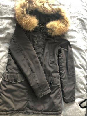 PARKA | Winterjacke in 36 mit Fell (grau)
