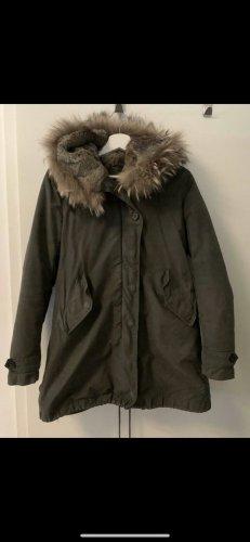 Lawrence Grey Pelt Coat olive green-green grey cotton