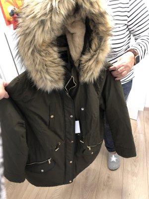 Cappotto con cappuccio cachi