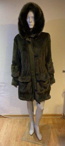 Blonde No. 8 Cappotto in eco pelliccia cachi Acrilico