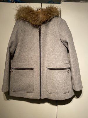 Parker Maje Grau Wolle Größe 38
