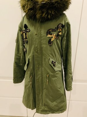 Miss & Furs Pelt Coat khaki