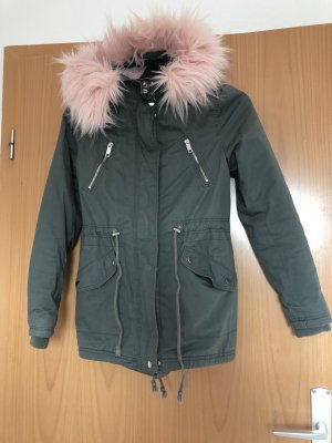 Tally Weijl Parka khaki-light pink