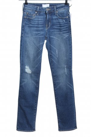 Parker Smith Vaquero de talle alto azul look casual
