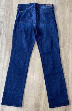 Parker Smith Jeans flare bleu foncé coton