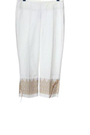 Part two Pantalone a 3/4 bianco-color carne modello misto stile casual