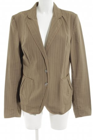 Part two Boyfriend-Blazer braun Streifenmuster Casual-Look