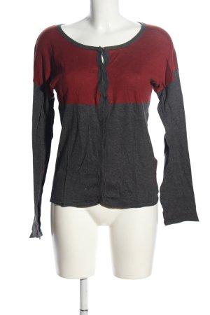 Part two Cardigan grigio chiaro-rosso puntinato stile professionale