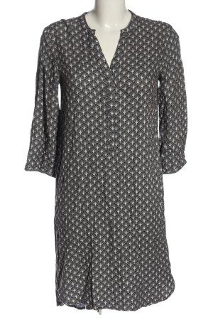 Part two Robe chemise brun-blanc imprimé allover style décontracté