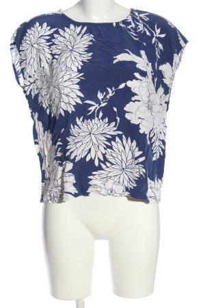 Part two Camicetta a maniche corte blu-bianco stampa integrale stile casual