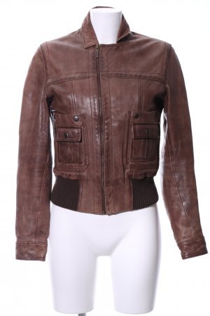 Part two Lederjacke braun Casual-Look