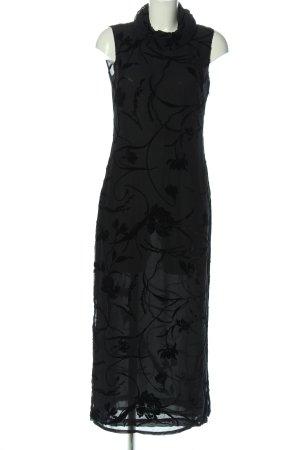 Part two Maxi Dress light grey-black abstract pattern elegant